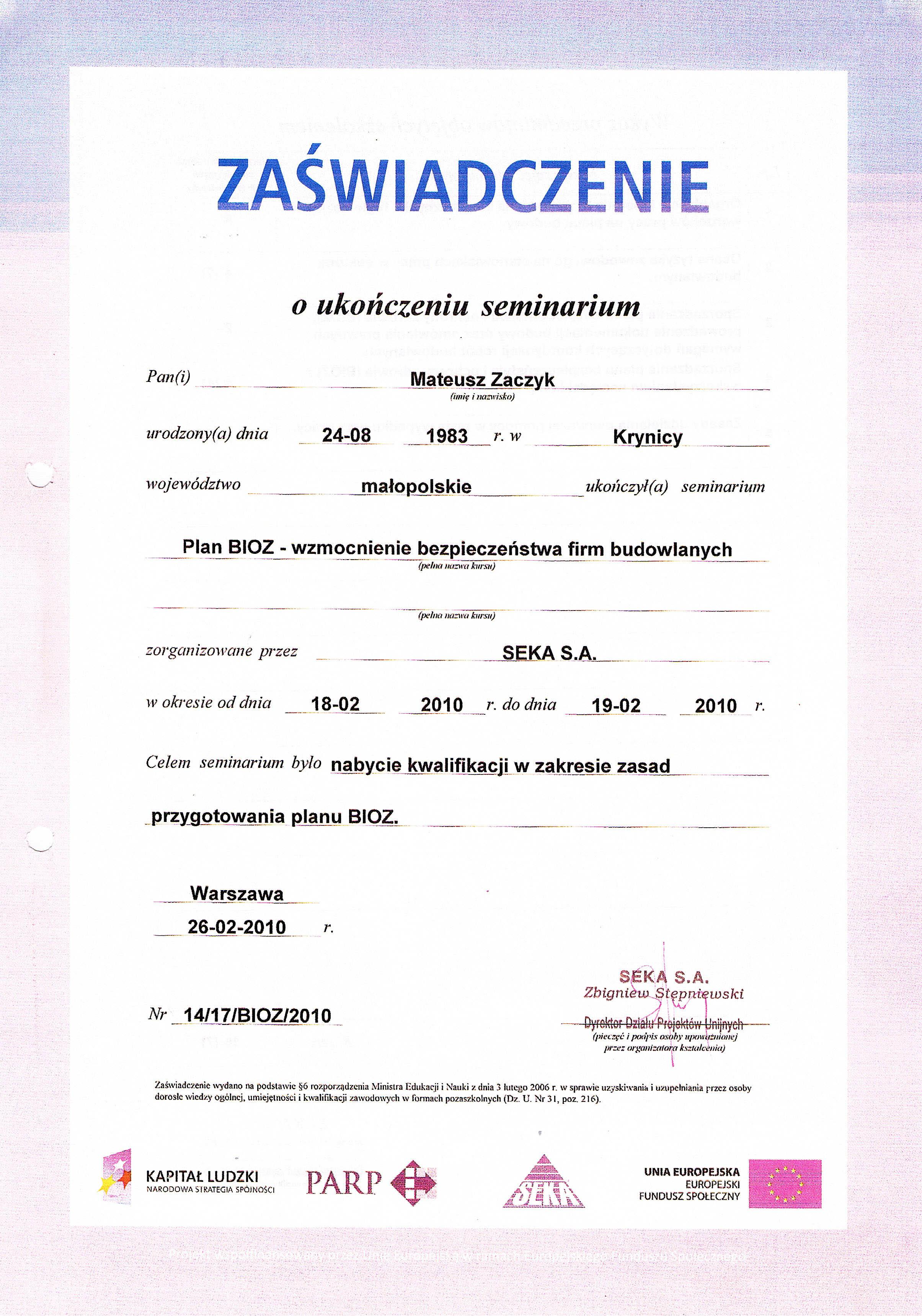 Certyfikaty 08