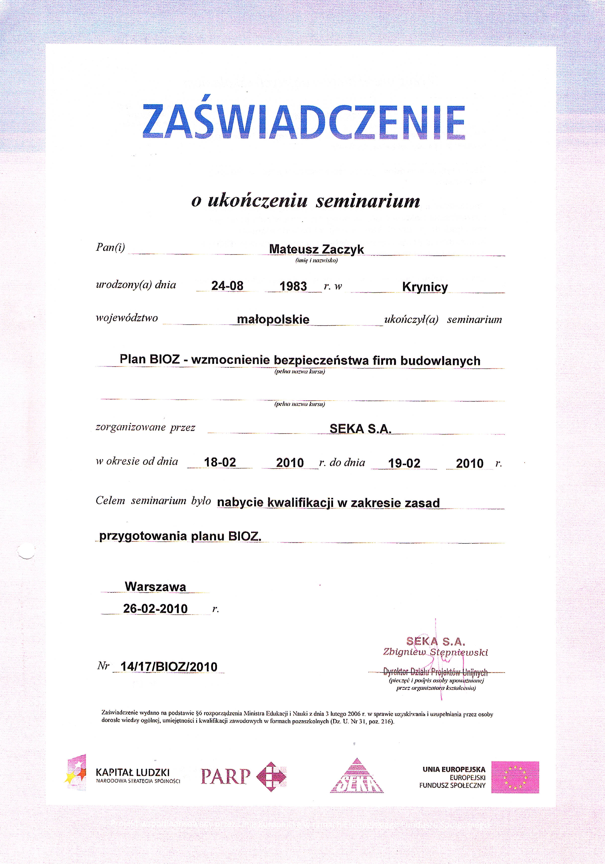 Certyfikaty 03