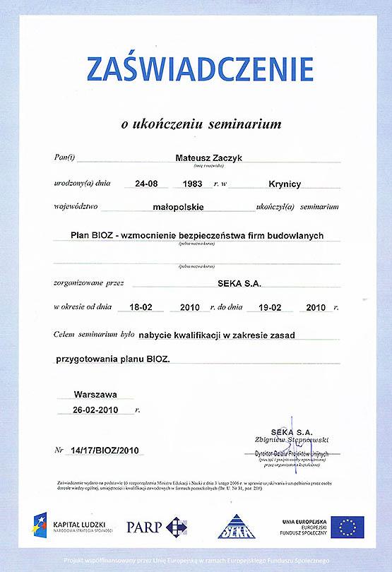 Certyfikaty 06